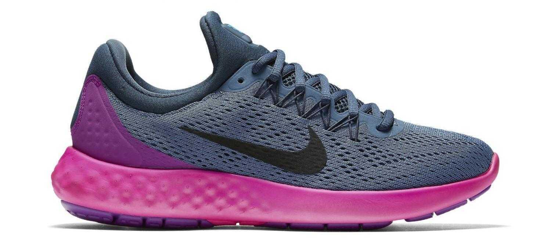 Dámske bežecké topánky Nike Lunar Skyelux. Modrá / Ružová